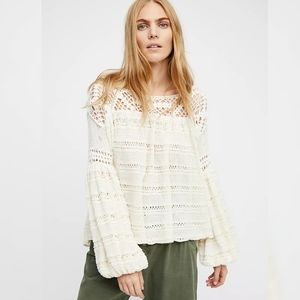 Free People Someday Off the Shoulder Sweater Ivory